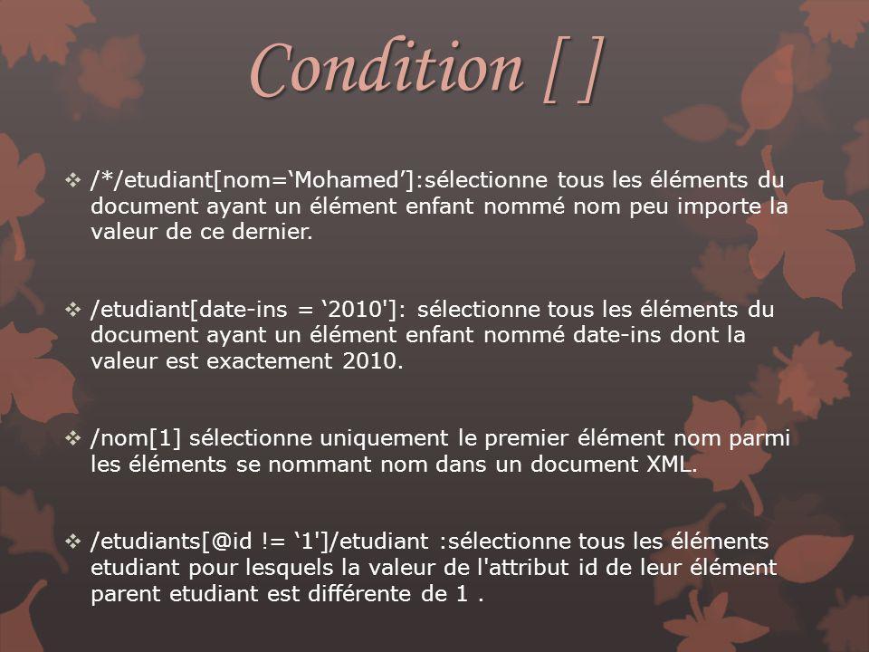 Condition [ ]